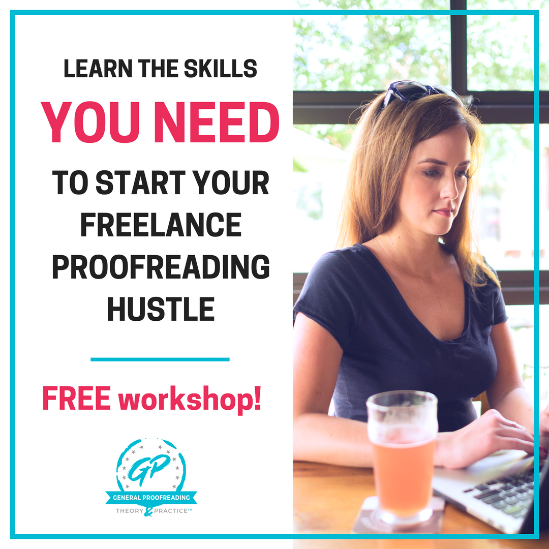 learn proofreading with this FREE workshop